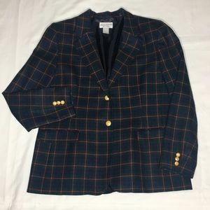 Pendleton 100% Virgin Wool Plaid Blazer